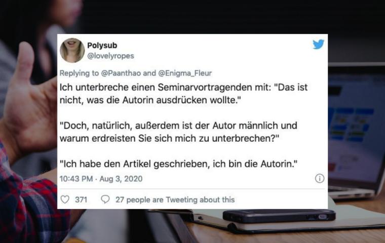 Auf Twitter erzählen Userinnen von ihren absurdesten Mansplaining-Erfahrungen