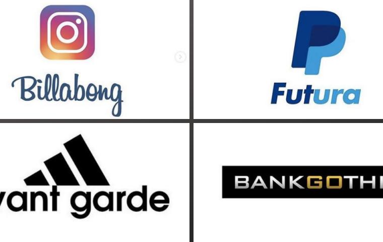 Ein Grafikdesigner analysiert, welcher Font für welches Logo verwendet wurde