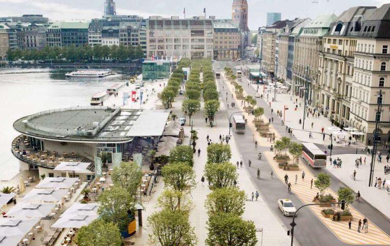Mobilitätswende: Hamburg macht den Jungfernstieg zur autofreien Zone