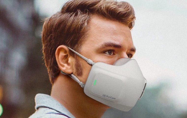 LG stellt eine Hightech-Maske mit eingebautem Luftfilter vor