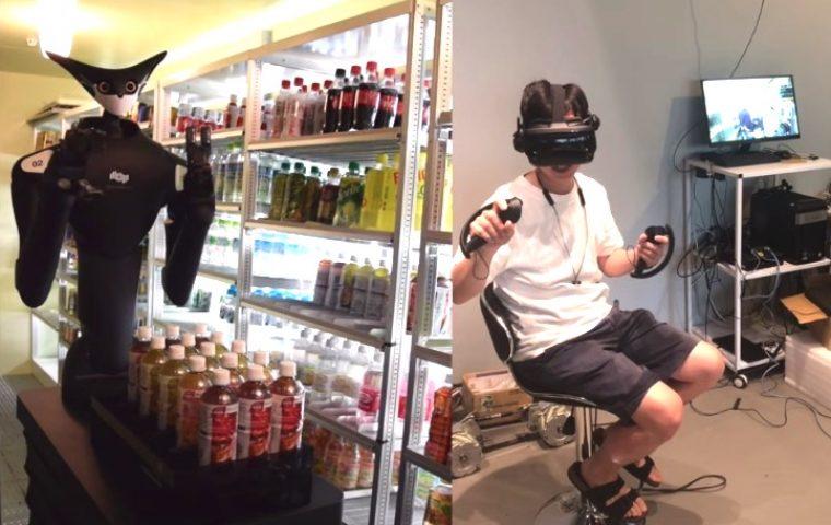 Steuerung via VR: In Supermärkten in Tokyo sollen Roboter die Regale einräumen