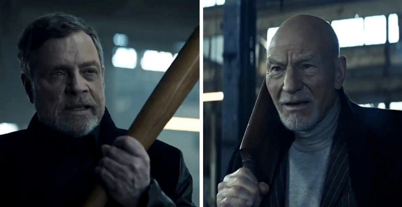 """Crossover von """"Star Wars"""" und """"Star Trek"""": Mark Hamill und Patrick Stewart treffen in Werbeclips aufeinander"""