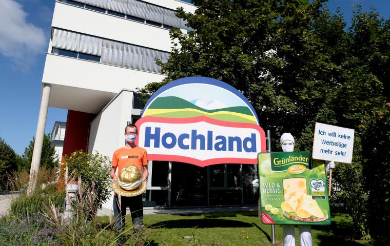"""Die größte Werbelüge 2020: Der goldene Windbeutel geht an den """"Grünländer Käse"""""""