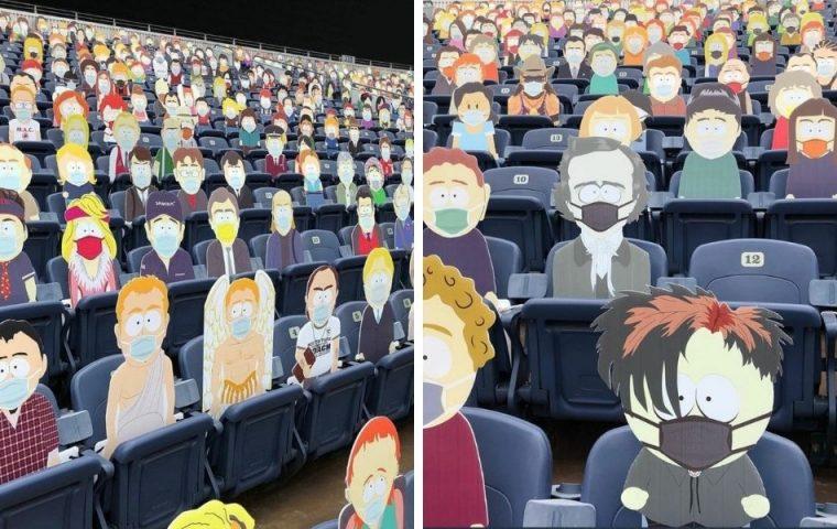 """NFL-Team belegt leere Stadionplätze mit allen Figuren aus """"South Park"""""""