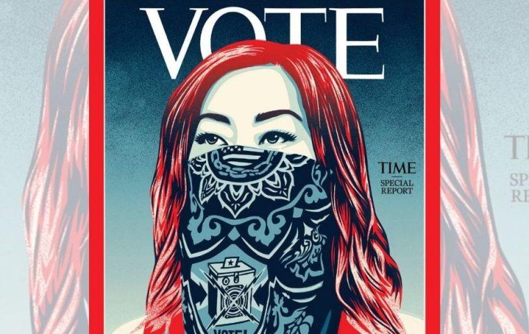 Aus TIME wird VOTE: So will das Time Magazine die US-Amerikaner*innen zum Wählen animieren