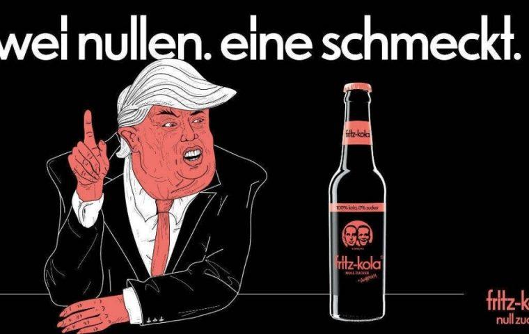 Shitstorm wegen Trump-Karikatur: Fritz-Kola kontert souverän und tut was gegen Hass