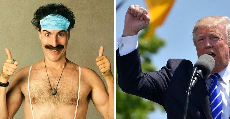 """""""Borat""""-Darsteller wird von Donald Trump beschimpft und kontert meisterhaft"""