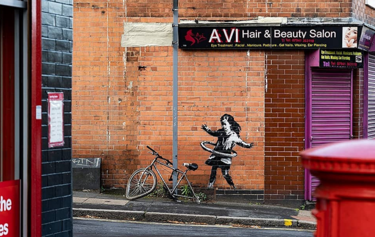 Zur Aufmunterung in Krisenzeiten: neues Banksy-Artwork in Nottingham aufgetaucht