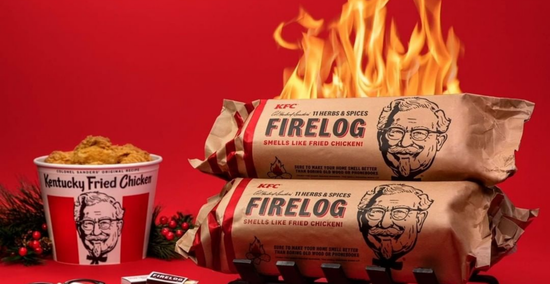 Weihnachtlicher Hähnchen-Duft: Walmart verkauft limitierte Kaminscheite, die nach KFC-Chicken riechen