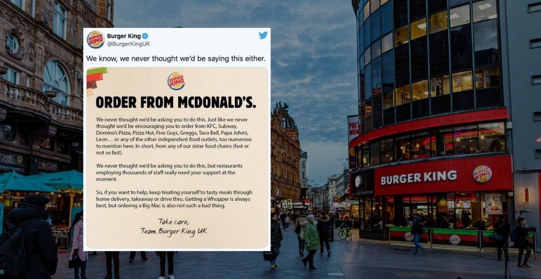 """""""Bestellt bei McDonald's"""" – Burger King macht Werbung für die schärfste Konkurrenz"""