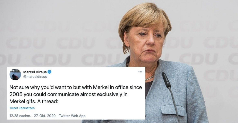 Dir fehlen im Team-Chat die Worte? Sag's mit einem Merkel-Gif