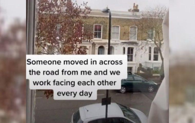 Von Fenster zu Fenster: TikTok-Nutzerin sucht in neuem Nachbarn einen Homeoffice-Verbündeten