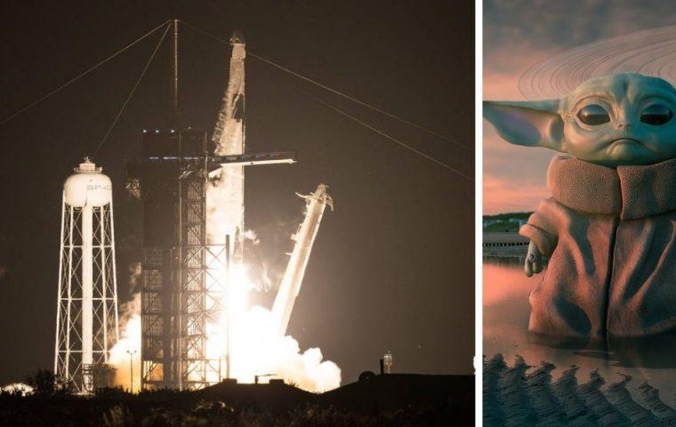 Astronaut*innen fliegen mit SpaceX-Raumschiff zur ISS – warum haben sie Baby-Yoda-Figur dabei?