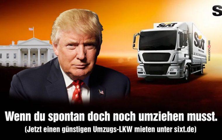 Täuschend echt: Satiremagazin disst Trump mit gefakter Sixt-Werbung