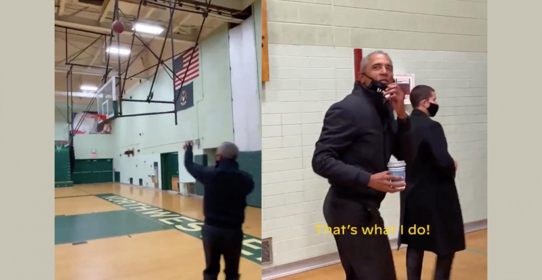 Führung in cool: Barack Obama erinnert mit Basketballwurf daran, warum er so beliebt war