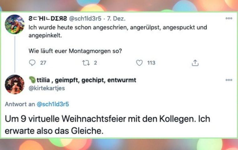 Die besten Tweets über virtuelle Weihnachtsfeiern