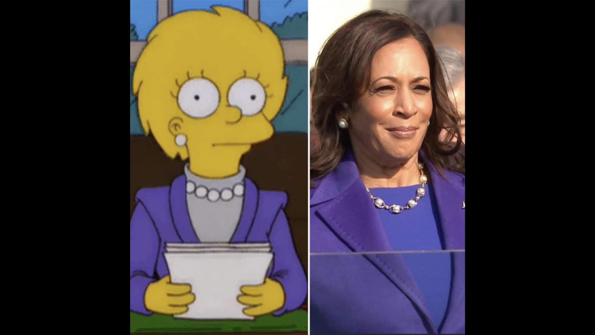 """Die """"Simpsons"""" sagten voraus, was Kamala Harris zur Vereidigung trägt"""