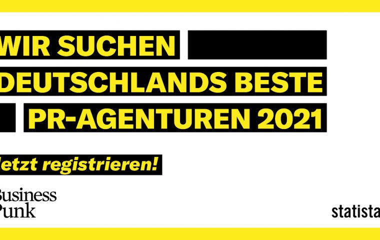 Business Punk und Statista suchen Deutschlands beste PR-Agenturen