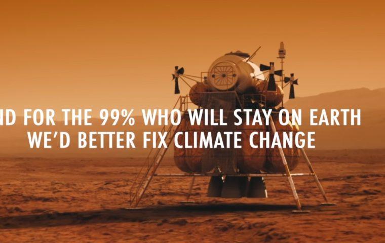 Fridays For Future wirbt für ein Leben auf dem Mars