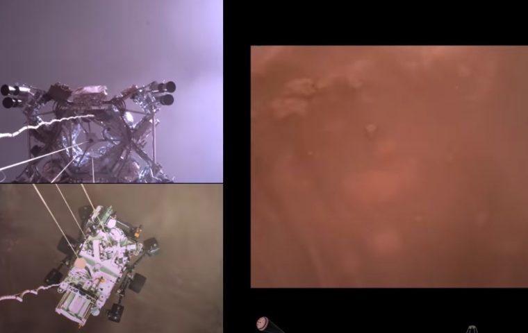Nasa-Video zeigt spektakuläre Mars-Landung von Rover Perseverance