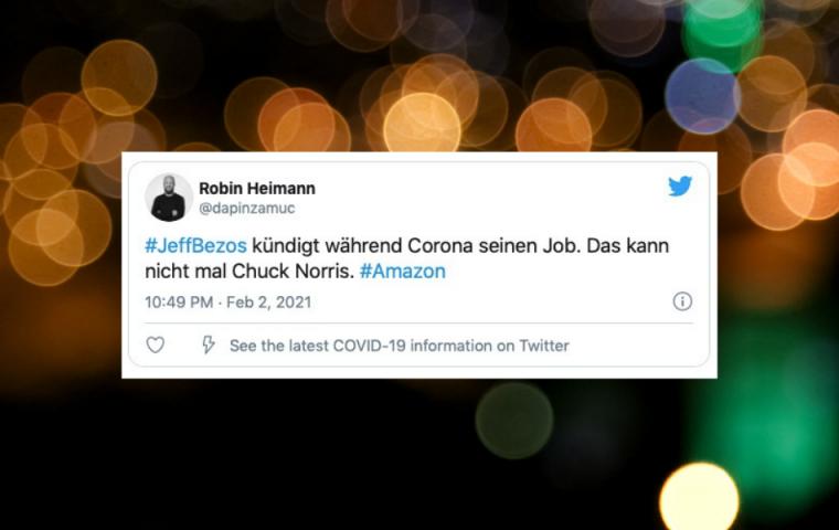 Die besten Tweets zu Jeff Bezos Rücktritt