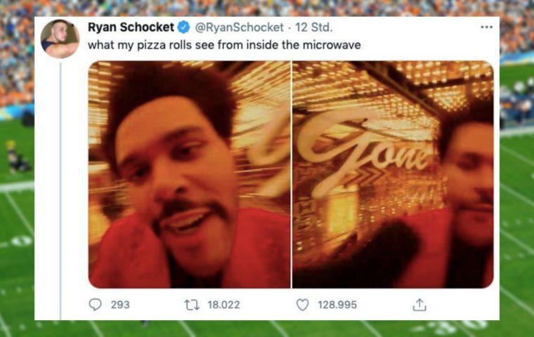 Super Bowl: The Weeknds Halbzeitshow wird zum Meme des Abends
