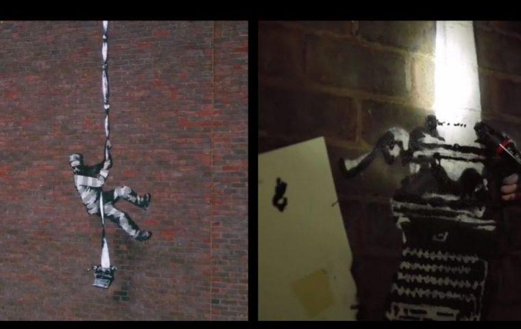Neues Werk von Banksy: Künstler gibt Einblick hinter die Kulissen