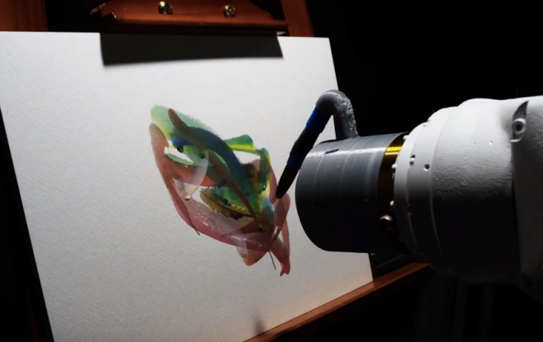 KI-Roboter malt Bilder – ist das Kunst oder kann das weg?