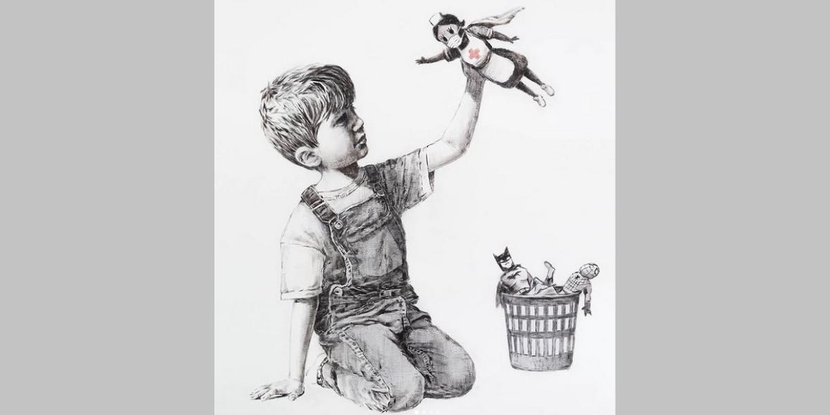 Rekord: Kunstwerk von Banksy erzielt bei Auktion 19,4 Millionen Euro