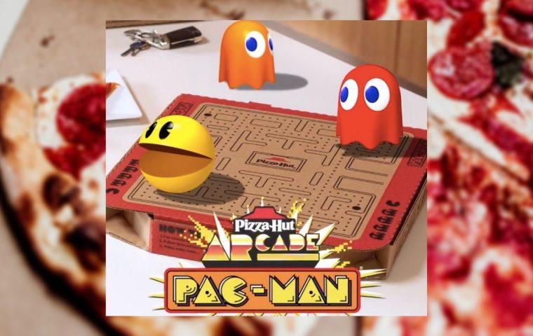Auf diesem Pizzakarton kann man jetzt Pac-Man spielen
