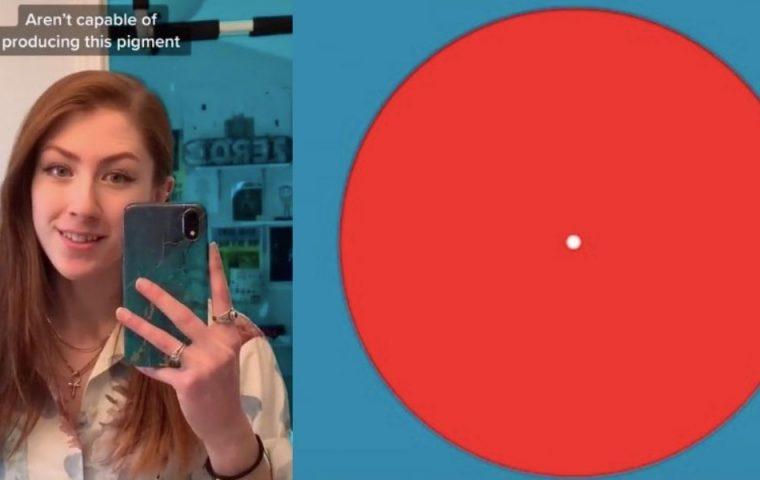 Optische Täuschung: Ich sehe was, was du nicht siehst und das ist: cyanblau