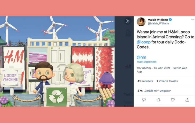 Game of Thrones-Star wirbt in Animal Crossing für recycelte Mode von H&M