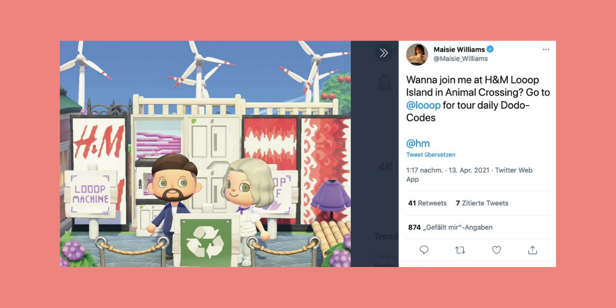 Game-of-Thrones-Star-wirbt-in-Animal-Crossing-f-r-recycelte-Mode-von-H-M