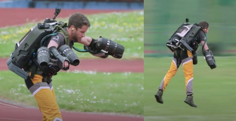 Wie Iron Man: Video zeigt Stuntman bei 100-Meter-Luftsprint mit Jet-Pack