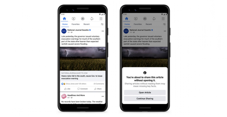 Facebook will wissen, ob ihr Artikel vor dem Teilen auch wirklich gelesen habt