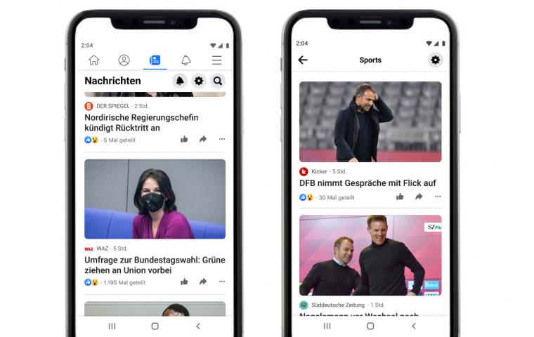 Statt Fake News: Facebook News soll seriöse Berichterstattung fördern