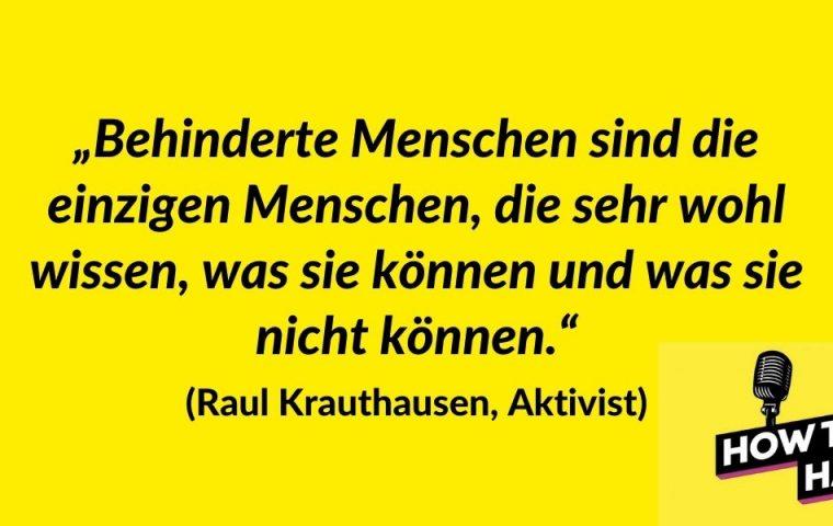 Raul Krauthausen über Diversity am Arbeitsplatz