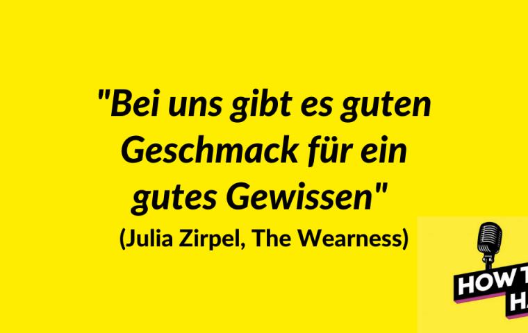 Julia Zirpel möchte Mode nachhaltiger machen – und spricht übers Gründen mit Purpose