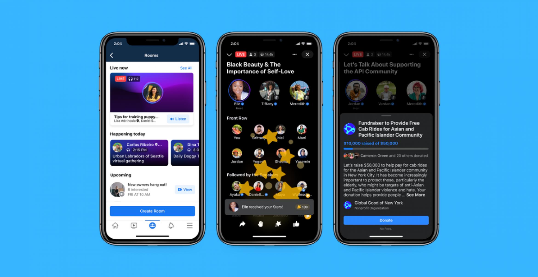 "Facebooks Clubhouse-Konkurrenz ""Live Audio Rooms"" startet heute in den USA"