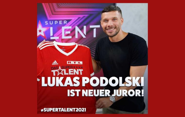 Lukas Podolski wird Supertalent-Juror