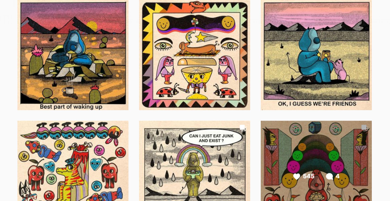 Dieser Illustrator verarbeitet das Officeleben zu psychedelischer Kunst