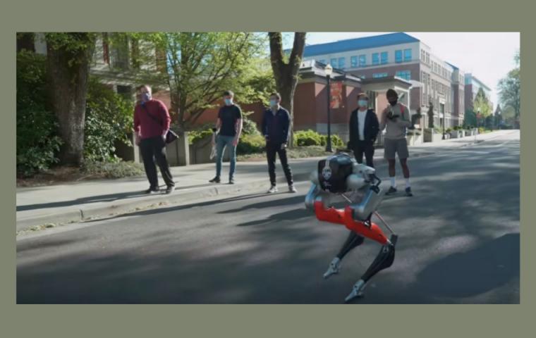 Dieser zweibeinige Roboter kann fünf Kilometer am Stück laufen
