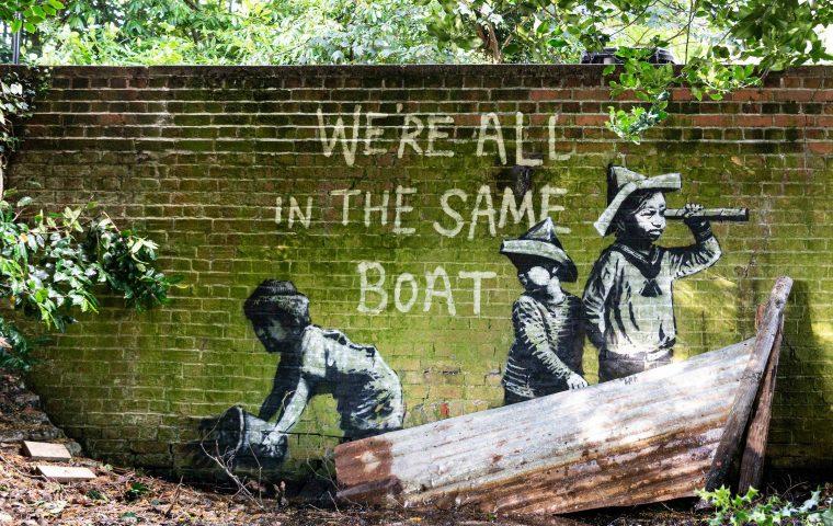 """""""A Great British Spraycation"""": Banksy hat mal wieder zugeschlagen"""