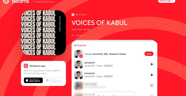 """""""Voices of Kabul"""": Startup Beams verleiht Menschen in Afghanistan eine Stimme"""