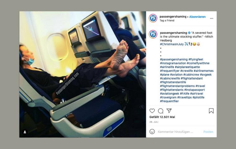 Achtung, cringe! Dieser Meme-Account zeigt die unmöglichsten Flugpassagier:innen