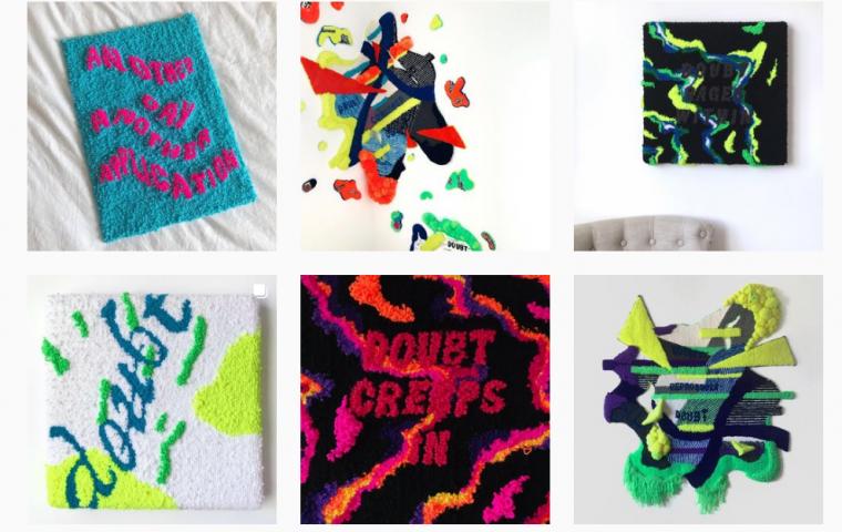 Insta-Page verarbeitet Mental Health-Themen zu gewebten Kunstwerken