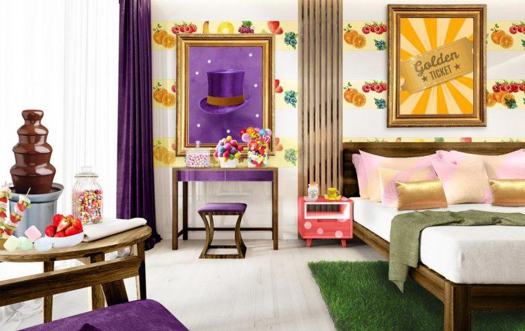 Charlie und die Schokoladenfabrik: In diesem Hotelzimmer lebt ihr wie Willy Wonka