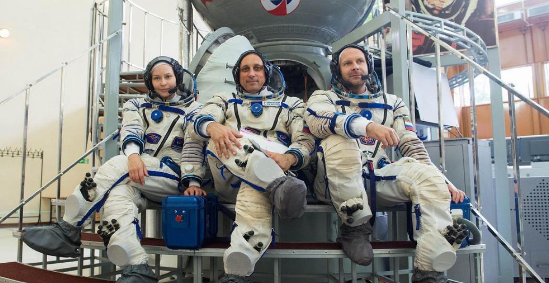 Russisches Filmteam dreht Szenen im Weltall